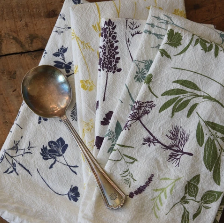 June and December Herb Sprigs Napkins Set of Four from Diament Jewelry, a gift shop in Washington, DC.