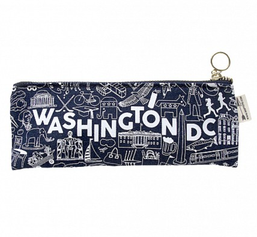 Maptote Denim Washington DC Pencil Pouch from Diament Jewelry, a gift shop in Washington, DC.