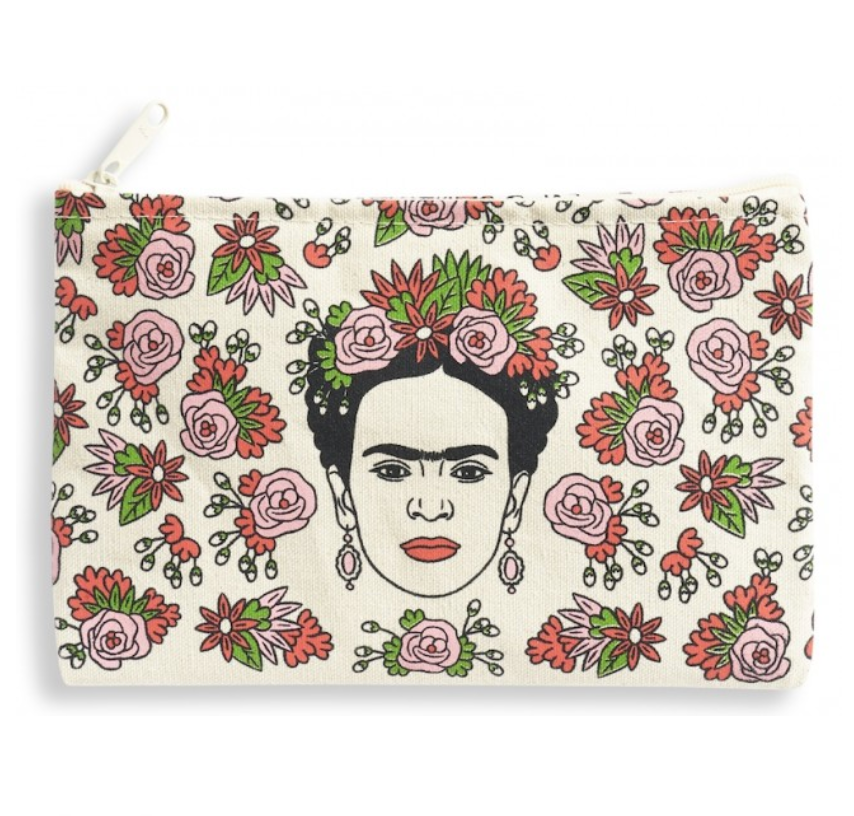 The Found Frida Zip Pouch from Diament Jewelry, a gift shop in Washington, DC.