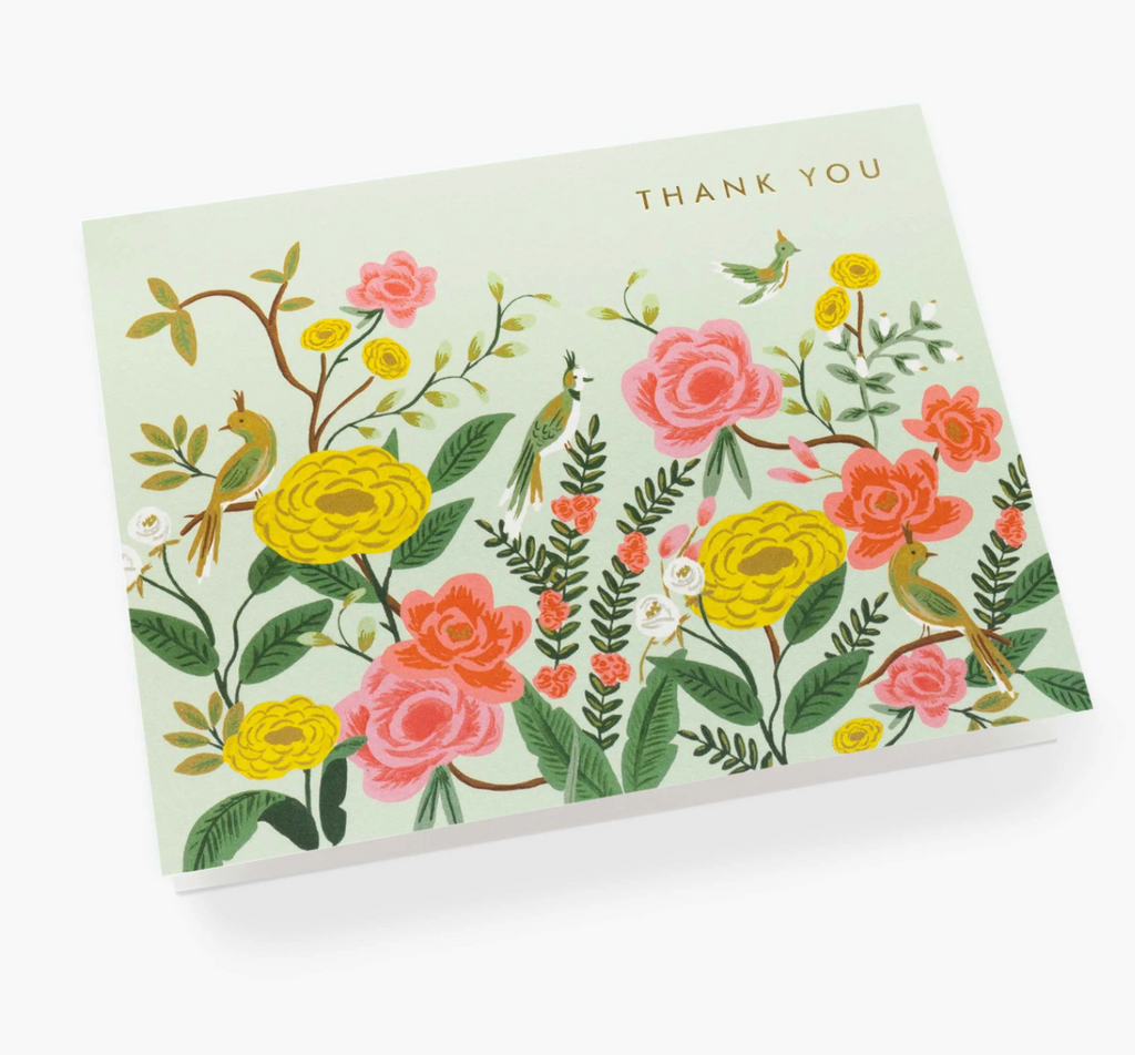 Wildflower Thank You Card Set of Eight from Diament Jewelry, a gift shop in Washington, DC.