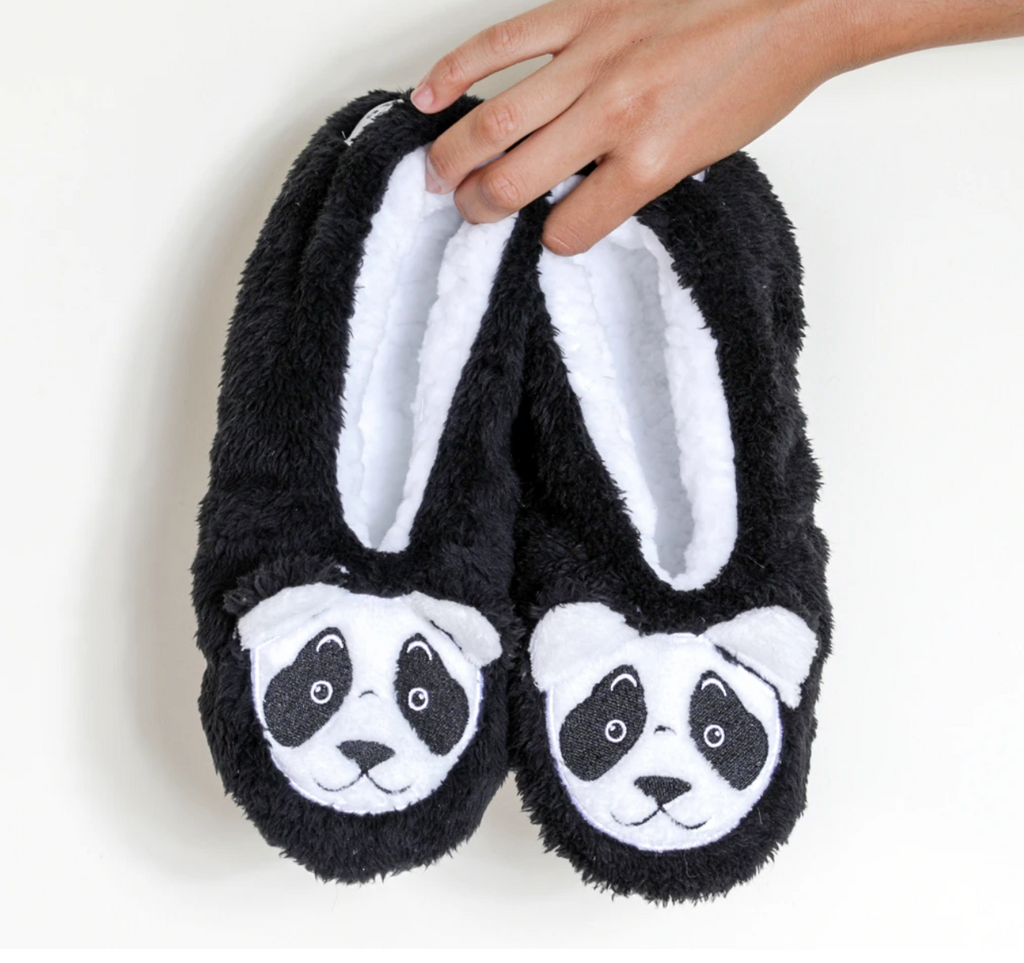 Faceplant bearly awake slippers from Diament Jewelry, a gift shop in Washington, DC.
