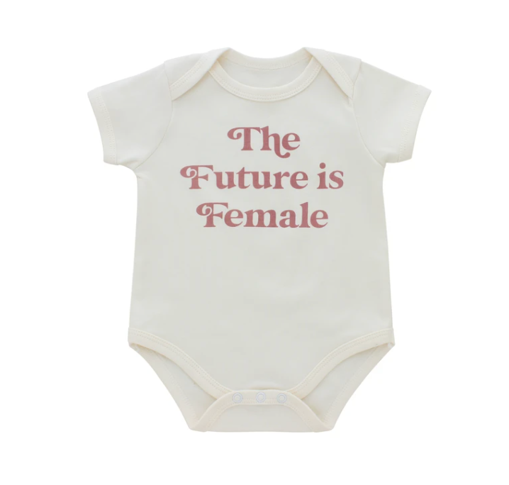 Emerson and Friends The Future is Female Baby Onesie from Diament Jewelry, a gift shop in Washington, DC.