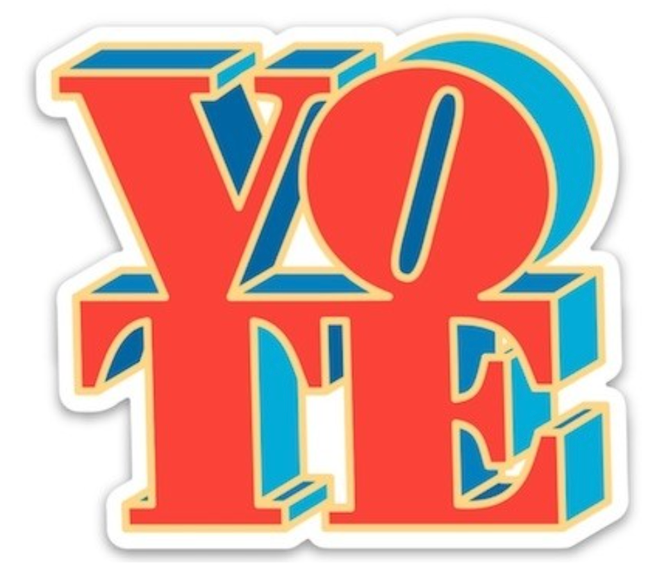 Vote Sticker from Diament Jewelry, a gift shop in Washington, DC.