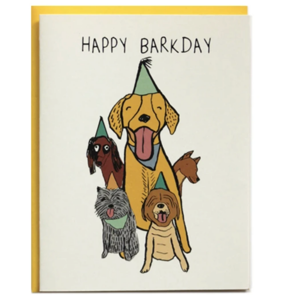 Happy Barkday Birthday Card from Diament Jewelry, a gift shop in Washington, DC.