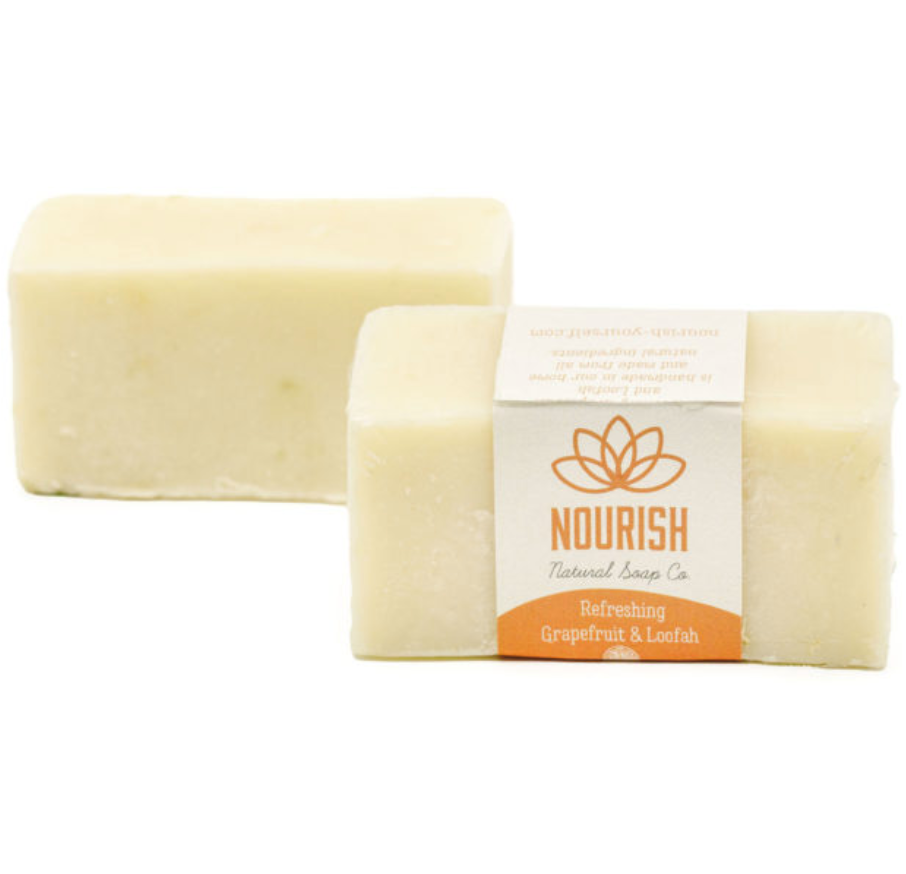 Nourish Natural Soap Co. Refreshing Grapefruit and Loofah from Diament Jewelry, a gift shop in Washington, DC.