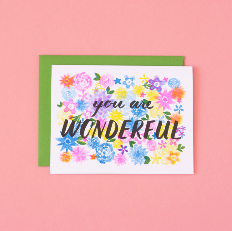 You Are Wonderful Card from Diament Jewelry, a gift shop in Washington, DC.