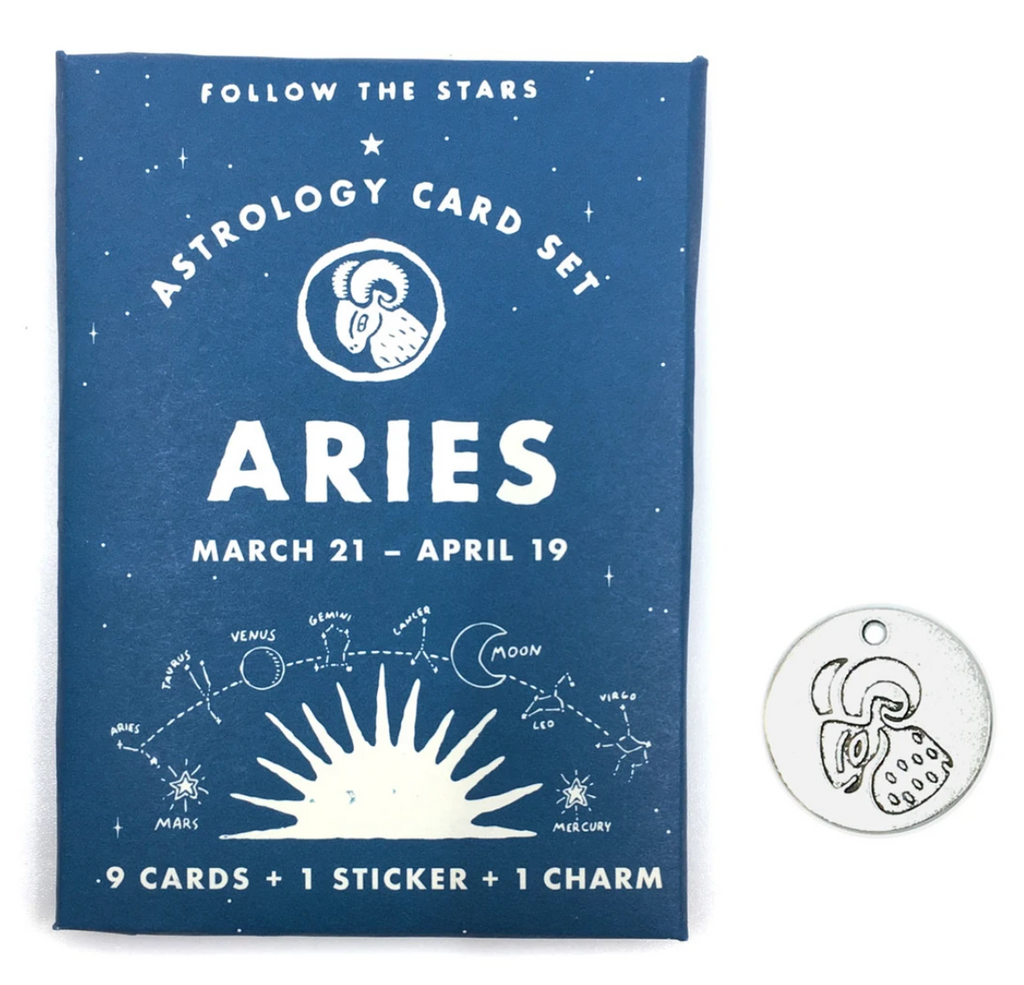 Three Potato Four Aries astrology card set from Diament Jewelry, a gift shop in Washington, DC.