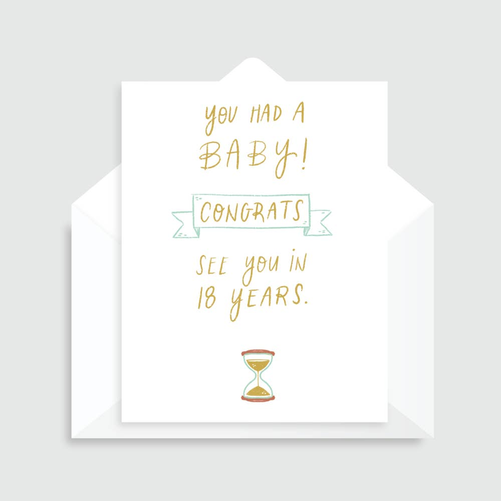 You Had a Baby Congrats Card from Diament Jewelry, a gift shop in Washington, DC.