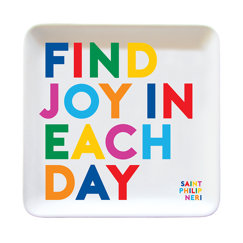 Find Joy in Each Day Dish from Diament Jewelry, a gift shop in Washington, DC.