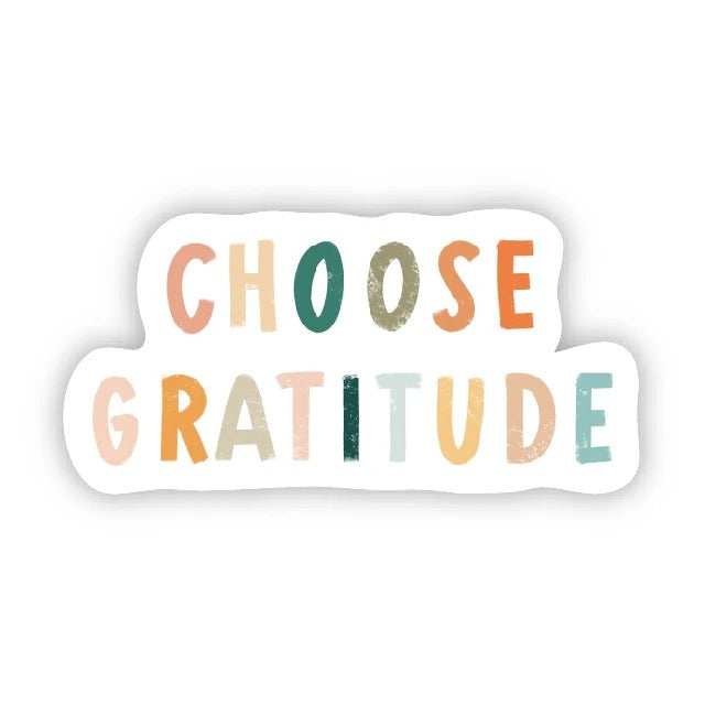 Choose Gratitude Sticker from Diament Jewelry, a gift shop in Washington, DC.
