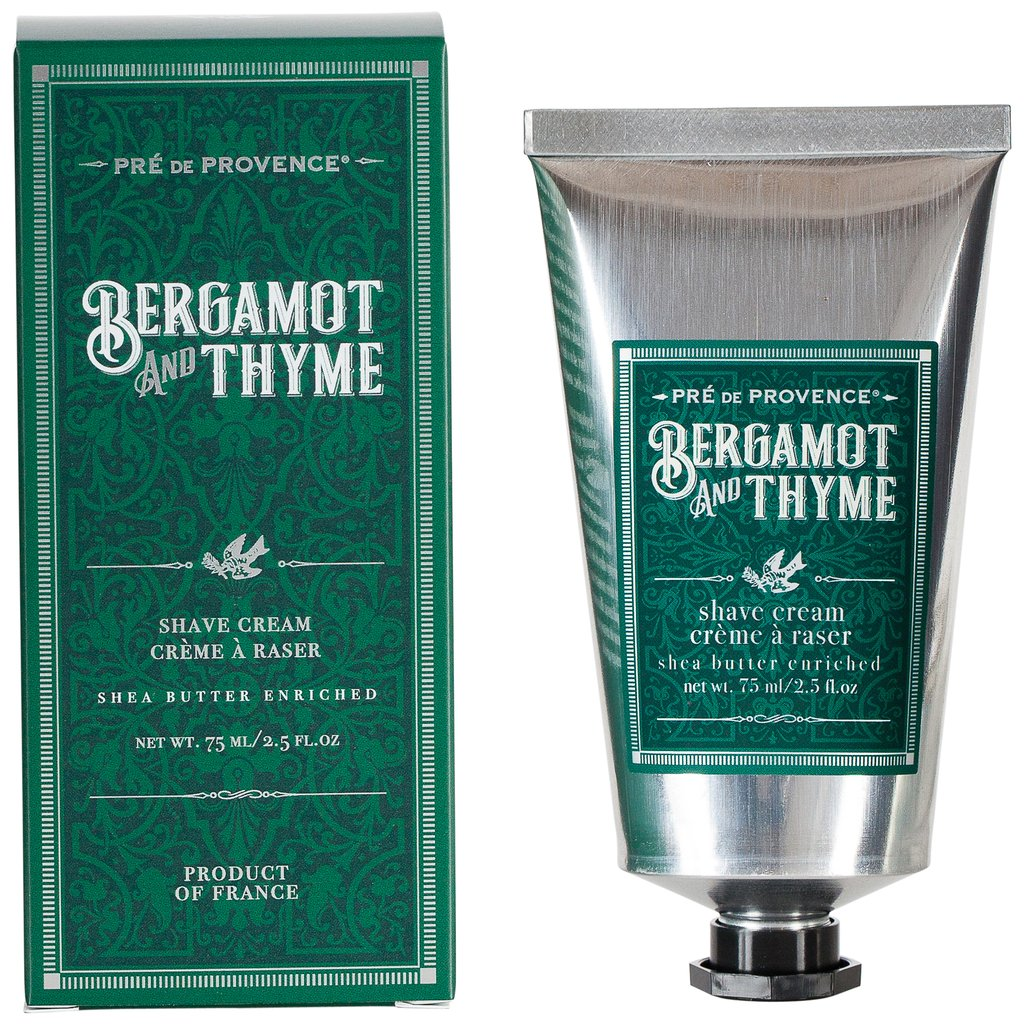 Bergamot and Thyme Shave Cream from Diament Jewelry, a gift shop in Washington, DC.