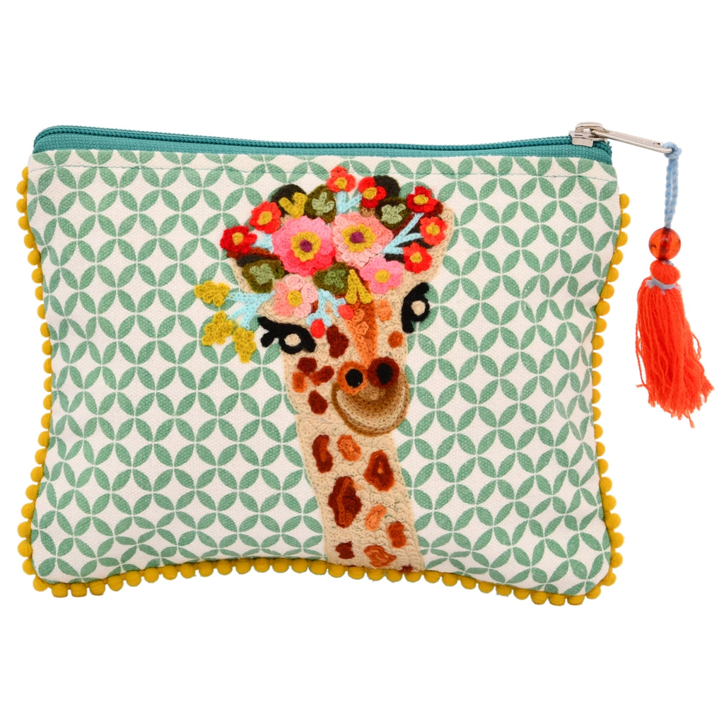 Giraffe Zip Pouch from Diament Jewelry, a gift shop in Washington, DC.