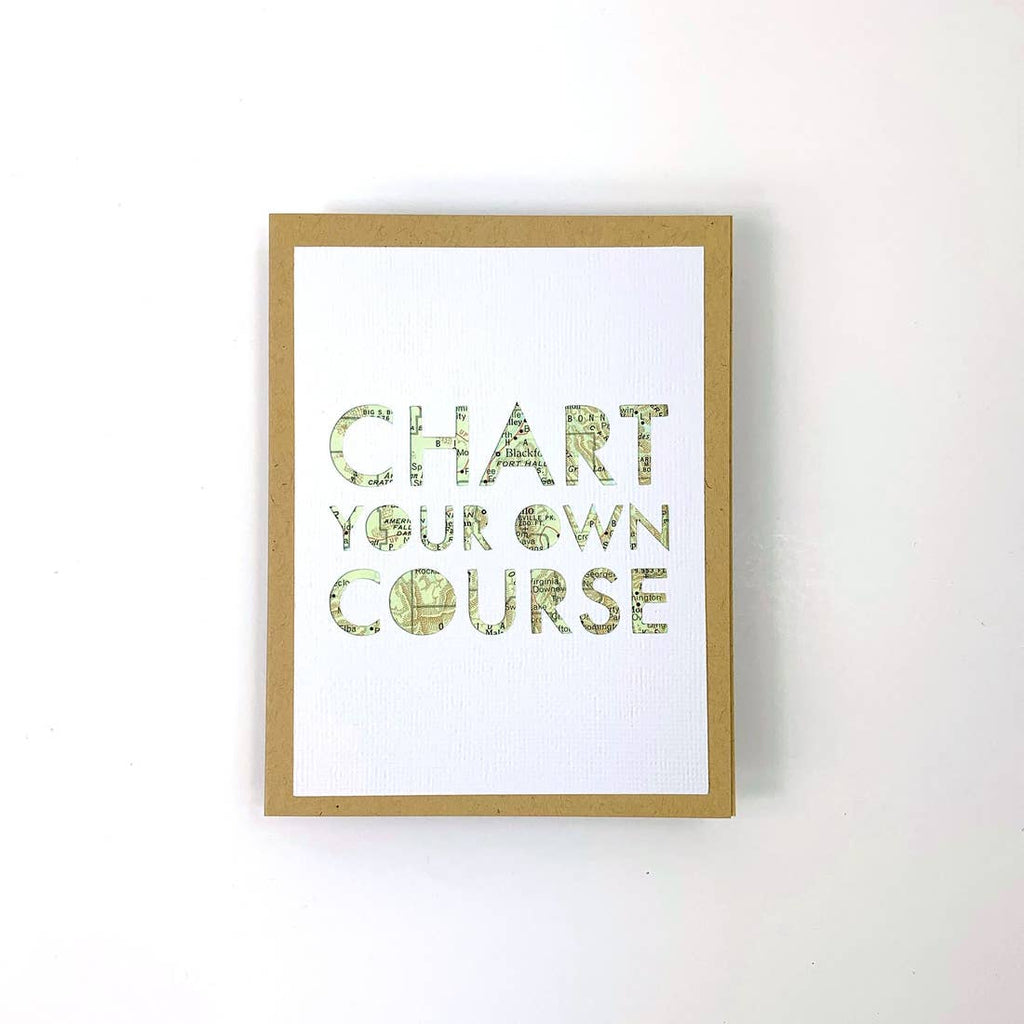 Chart Your Own Course Card from Diament Jewelry, a gift shop in Washington, DC.