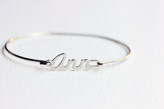 Vintage Ann silver name bracelet from Diament Jewelry, a gift shop in Washington, DC.