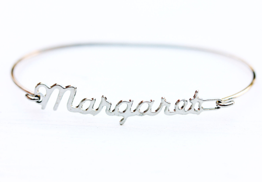 Vintage Margaret silver name bracelet from Diament Jewelry, a gift shop in Washington, DC.