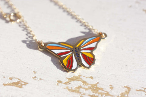 Colorful Butterfly Necklace