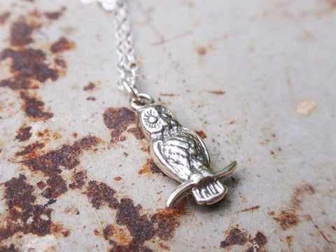 Sweet Silver Owl Necklace