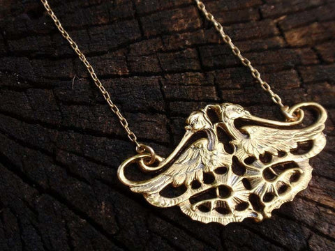 Twin Falcons Necklace