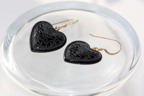 Embossed Heart Earrings