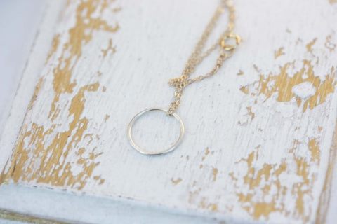 Delicate Circle Necklace