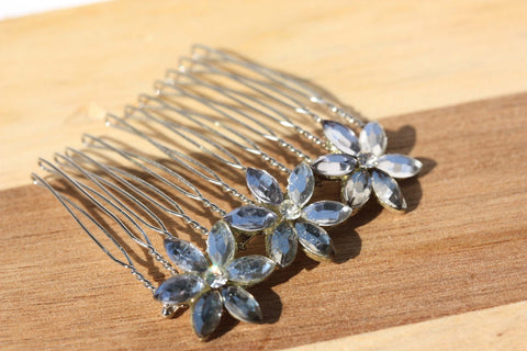 Vintage Crystal Hair Comb (set of 2)