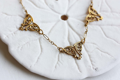 Filigree Triangles Necklace