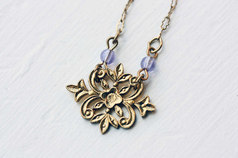 Filigree Flower Necklace