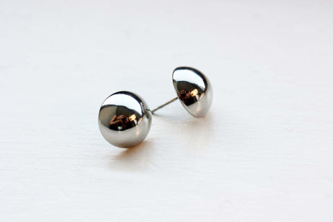 Large Silver Dome Studs