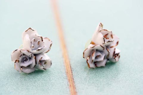 Large Vintage Flower Cluster Earrings