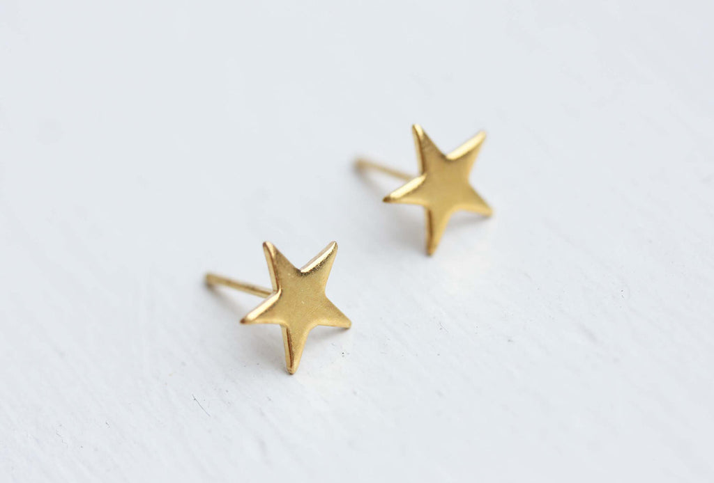 Tiny Gold Star Studs