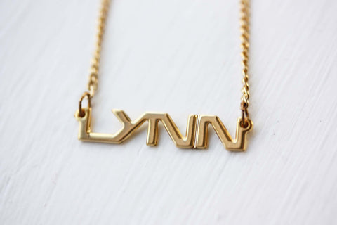 Vintage Name Necklace - Lynn