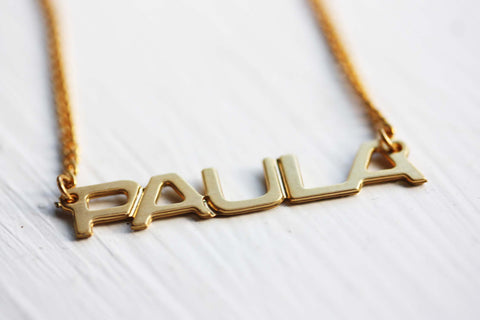 Vintage Name Necklace - Paula