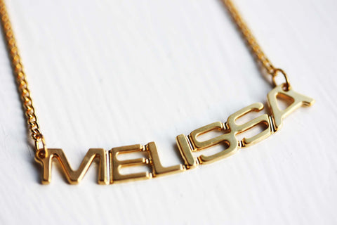 Vintage Name Necklace - Melissa