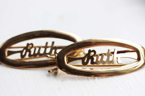 Vintage Hair Clips - Ruth