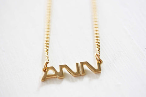 Vintage Name Necklace - Ann