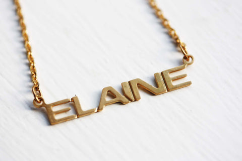 Vintage Name Necklace - Elaine