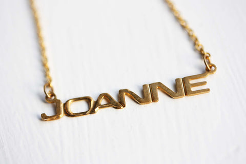 Vintage Name Necklace - Joanne