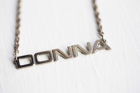 Vintage Name Necklace - Donna