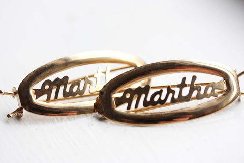 Vintage Hair Clips - Martha