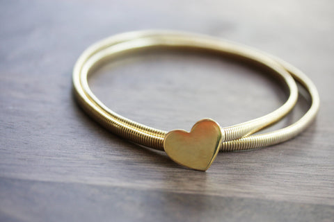 Gold Heart Coil Belt - M