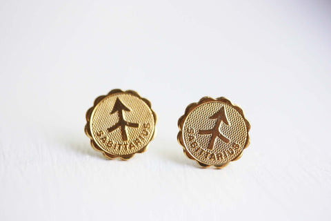 Gold Astrology Studs - Sagittarius