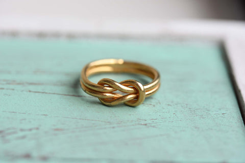 Sailor Knot Ring - Gold