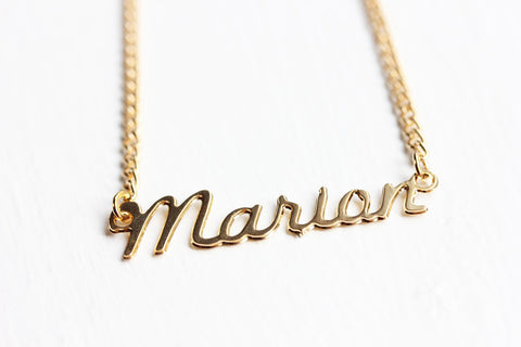 Vintage Name Necklace - Marian