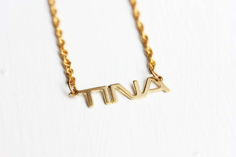 Vintage Name Necklace - Tina