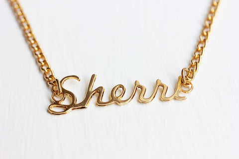 Vintage Name Necklace - Sherri
