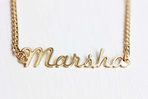 Vintage Name Necklace - Marsha