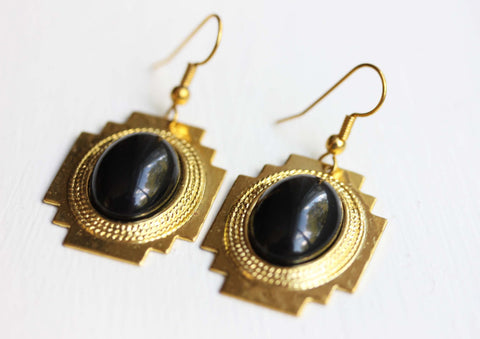 Black Inca Earrings