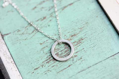 Classic Silver Circle Necklace