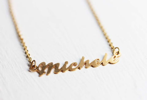 Vintage Name Necklace - Michele