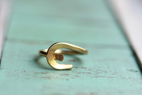 Abstract Swirl Ring